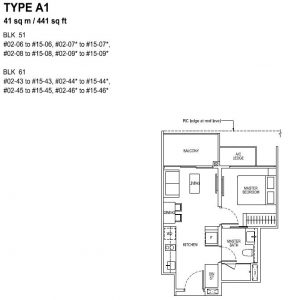 The Tapestry Floor Plan TYPE A1
