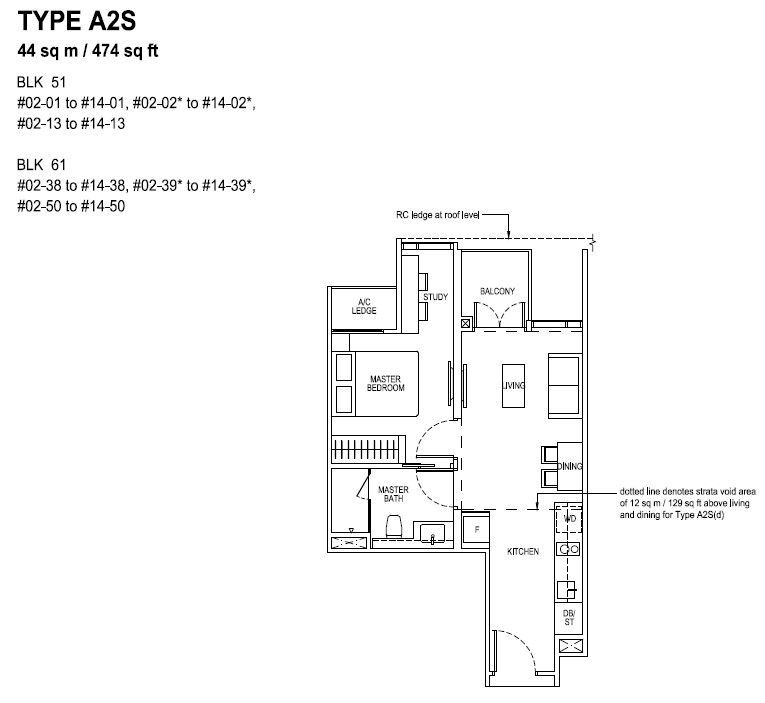 The Tapestry Floor Plan TYPE A2S