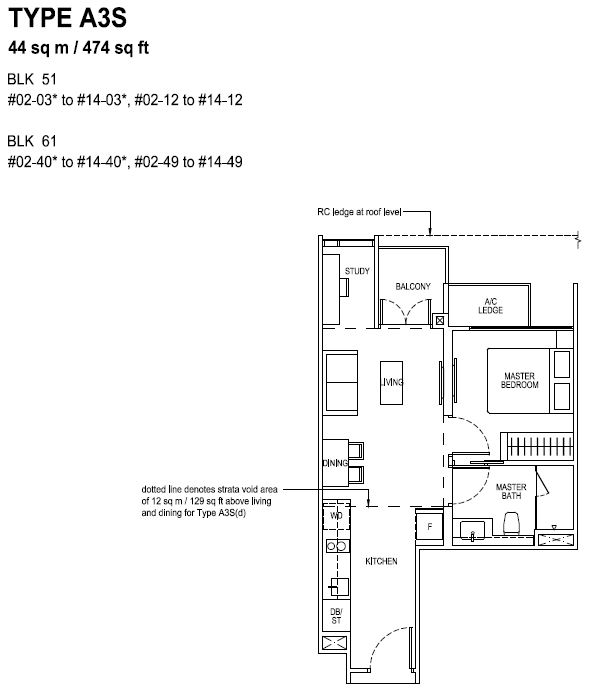 The Tapestry Floor Plan TYPE A3S