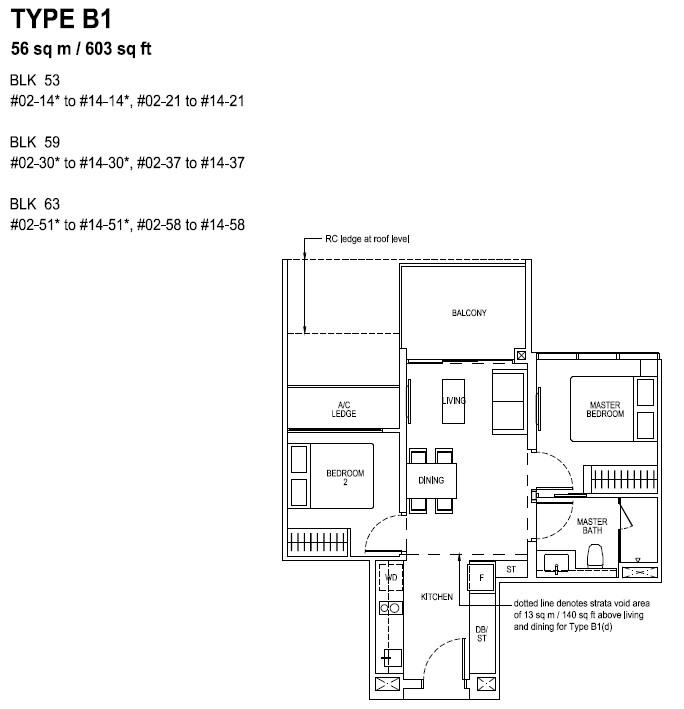 The Tapestry Floor Plan TYPE B1