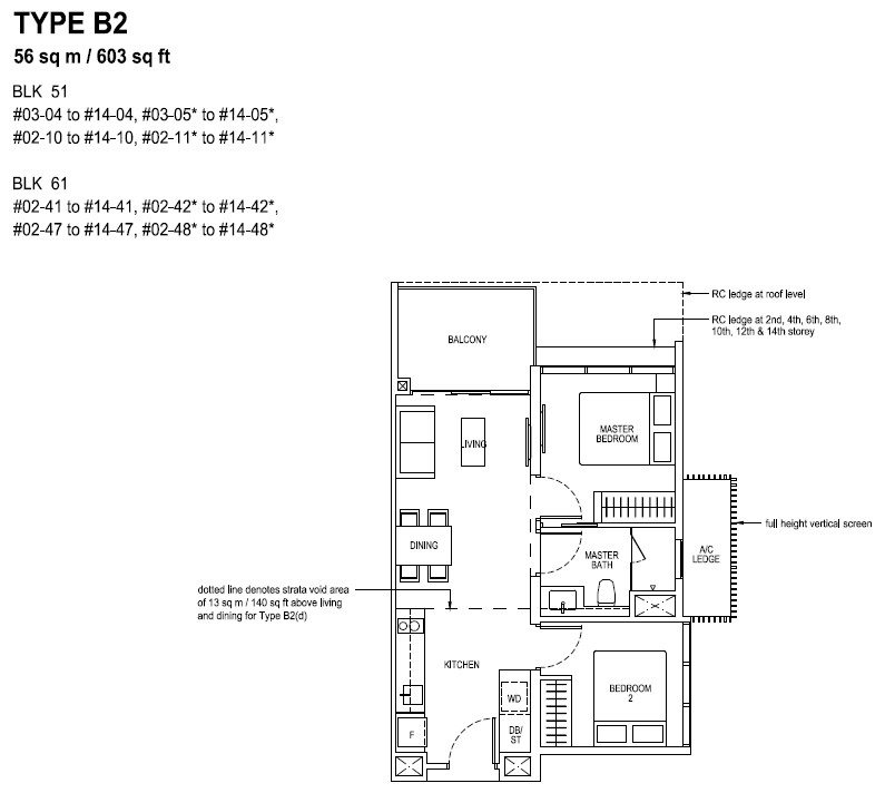 The Tapestry Floor Plan TYPE B2
