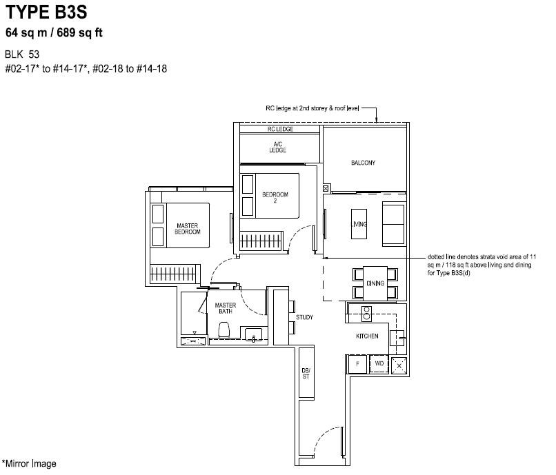 The Tapestry Floor Plan TYPE B3S