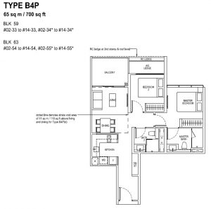 The Tapestry Floor Plan TYPE B4P