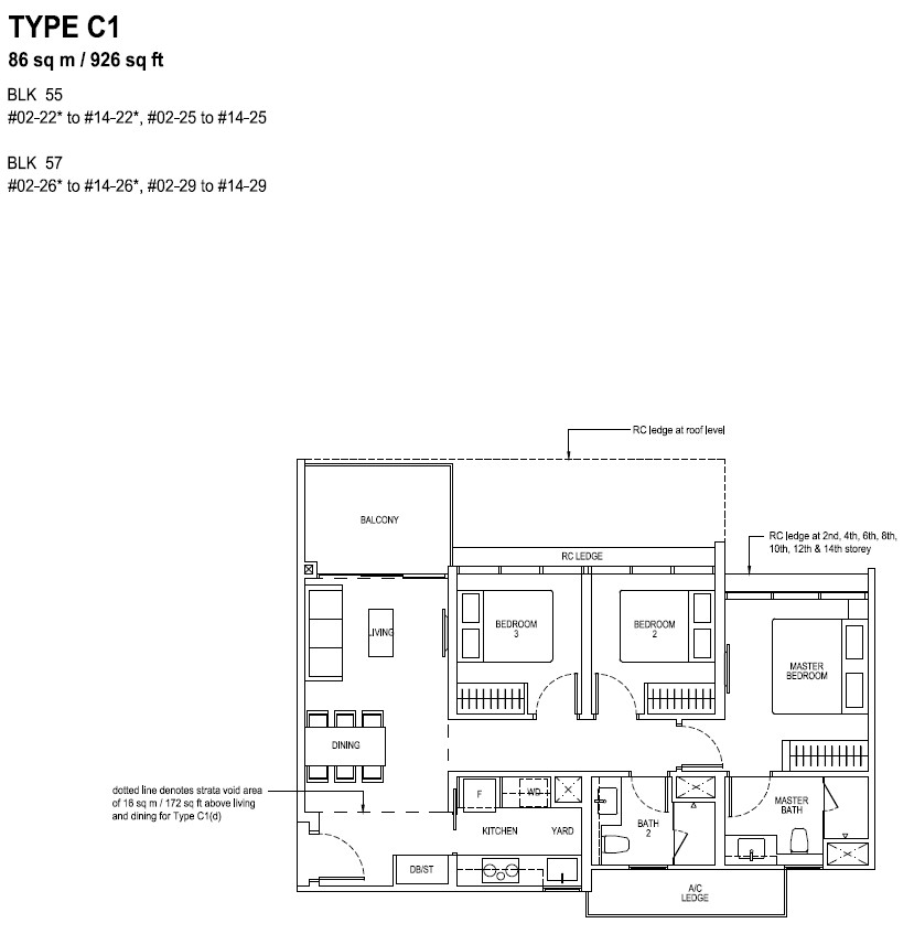 The Tapestry Floor Plan TYPE C1