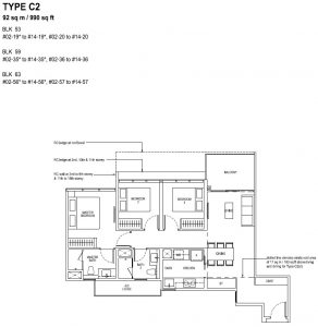 The Tapestry Floor Plan TYPE C2