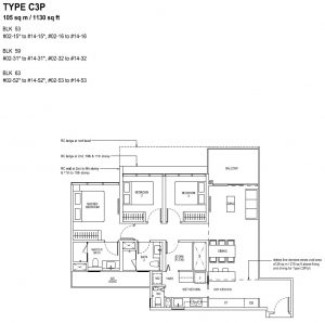 The Tapestry Floor Plan TYPE C3P