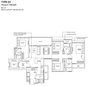 The Tapestry Floor Plan TYPE D1