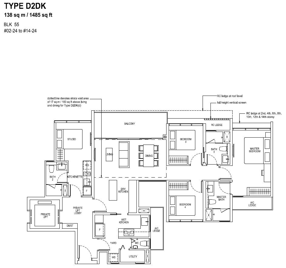 The Tapestry Floor Plan TYPE D2DK